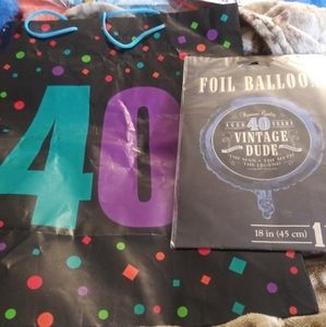 40 Bday Bag & Helium Balloon